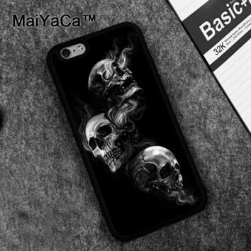 Speak no evil skull project Case for Apple iPhone 6S 6 TPU Case for iPhone 6 6s Soft Rubber Skin Back Covers shell
