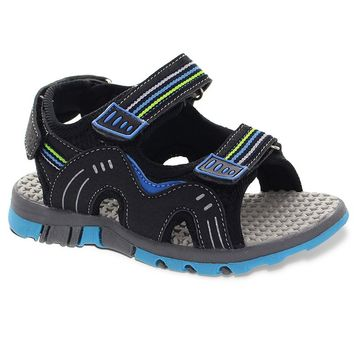 Rugged Bear Boys' Double-Strap Sport Sandals