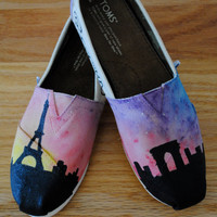 Paris Themed Shoes by FandomFeetbyAshlee on Etsy