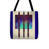"abstract - art- Earth Song Tote Bag for Sale by Ann Powell (13"" x 13"")"