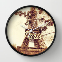 Paris Wall Clock by Anna Andretta