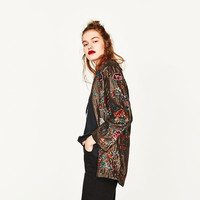 SEQUINNED KIMONO JACKET DETAILS