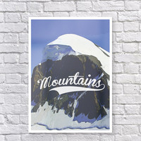 Colorful Printable Art Mountains, Printable Poster, Wall Art, Home Decor, Printable Art, Colorful Wall Art, INSTANT DOWNLOAD