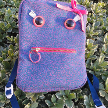 Miss Molly Monster Ravepack Pink and Blue Spotted Backpack