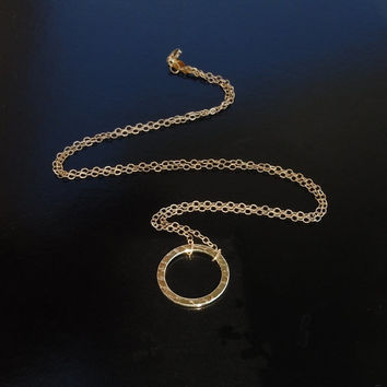 Karma Circle Necklace in 14kt Solid Gold