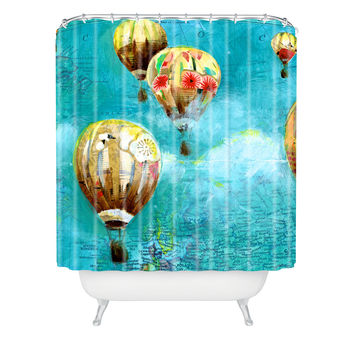 DENY Designs Land Of Lulu Woven Polyester Herd of Balloons 2 Shower Curtain
