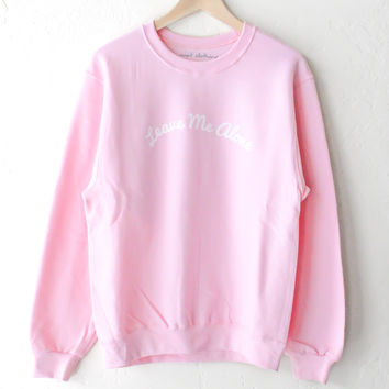 Leave Me Alone Oversized Sweater - Pink