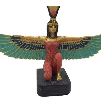Isis Miniature Mini Tiny Statue with Color Wings for Altar or Model Building 3.75W
