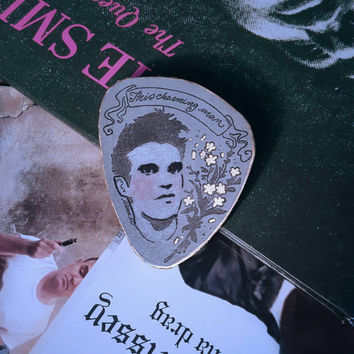 Morrissey handmade pin , the smiths , Moz