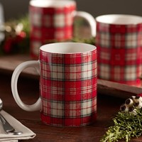 Plaid Printed Mug