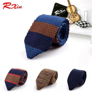ac NOOW2 New Design Fashion Male Brand Slim Designer Knitted Ties Neck Ties Cravate Narrow Skinny Neckties For Men Striped Ties
