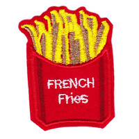 Cute Emoji Style French Fries Patch 6cm Applique