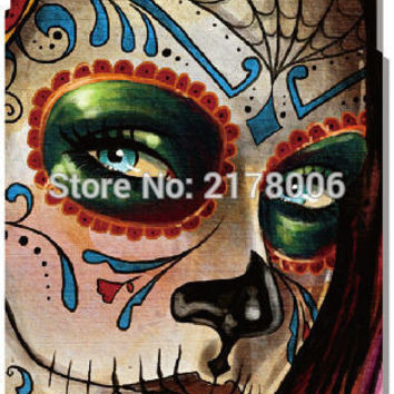 Painting Sugar Skull Mobile Cell Phone Case Plastic Hard Cover For iphone 4 4S 5 5S SE 5C 6 6S Plus For iPod Touch 4 5 6 Cases