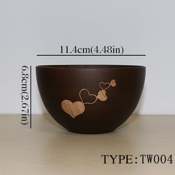 Natural Bamboo Wooden Bowl —Multiple Sizes, Colors & Designs!