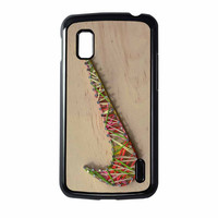 Nike Wood Rubber Band Master Nexus 4 Case