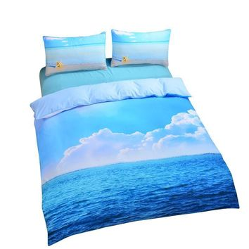 Tropical Beach Bedding Set