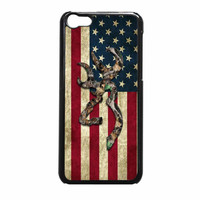Browning Deer Camo American Flag iPhone 5c Case