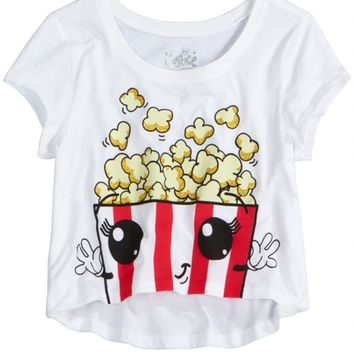 Popcorn Cropped Graphic Tee | Girls Graphic Tees Clothes | Shop Justice