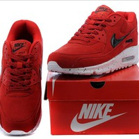 NIKE AIR MAX Women Man fashion sneaker sports shoes red-black hook colorful starry sky soles H-MDTY-SHINING