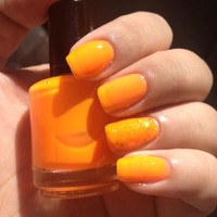 Nail Sauce: Orange Soda neon jelly nail polish