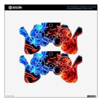 flames of good and evil PS3 controller skin