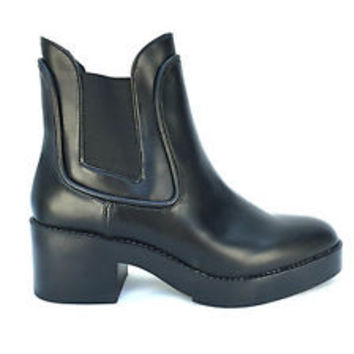 ZARA BLACK ELASTICATED ANKLE BOOTS SHOES SIZE UK6/EUR39/US8