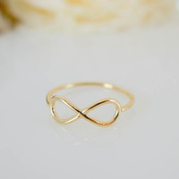 infinity ring us size 5  8 by applelatte on Etsy