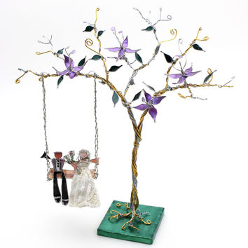 The Tree Swing Custom Wedding Cake Topper