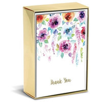 Hanging Flowers Thank You Boxed Card Set