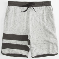 Hurley Active Block Party Retreat Mens Sweat Shorts Heather Grey  In Sizes