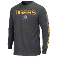 LSU Tigers Classic Victory Long Sleeve T-Shirt - Charcoal