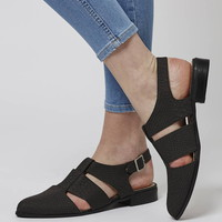 ODESSA Cut-Out Shoes - Flats - Shoes