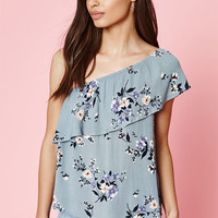 Kendall & Kylie Ruffle One Shoulder Top at PacSun.com
