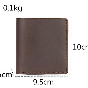 New Genuine Leather Small Handmade Wallets