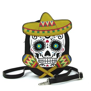 Sugar Skull Crossbody Bag