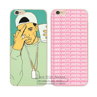 1-800-HOTLINEBLING Drake Cover for iPhone 5 5S 5C 6 6S 4.7 inch 6Plus 6SPlus cases Shell
