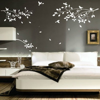 Tree Branches Birds wall decal Large Branches Birds wall stickers Branches wall decal Birds wall decal Branch bird decals tree wall decals