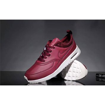 Nike Air Max 90 Popular Women Men Leisure All Leather Small Ar Cushion Sport Running Shoe Sneakers Red I-CQ-YDX
