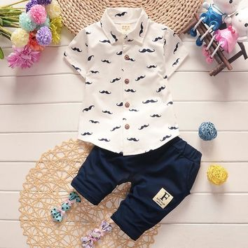 Baby Summer Collared Shirt and Pants