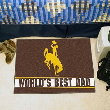 FANMATS University of Wyoming World's Best Dad Starter Mat Rug