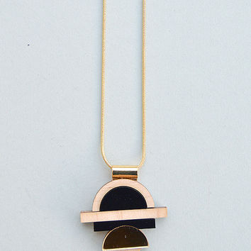 Modulo Necklace in Gold by Nylon Sky