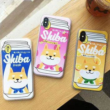Shiba Inu Soft 3D Cute iPhone Case (iPhone 7, 7 Plus, 8, 8 Plus, X)