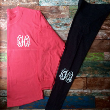 Glitter Monogram Pullover, Over sized Preppy Monogram Sweatshirt, Team, Sorority, School, Long sleeve t shirt - PPB Original Design