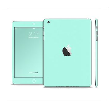 The Subtle Solid Green Full Body Skin Set for the Apple iPad Mini 2