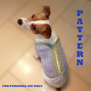 Knit and Crochet Dog Sweater PATTERN  / PDF format Pattern /  Dog clothes pattern / Knitting Pattern / Crochet pattern