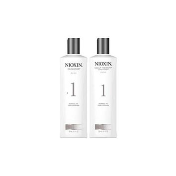 Nioxin System 1 Cleanser And Scalp Therapy Duo Set 10 Oz