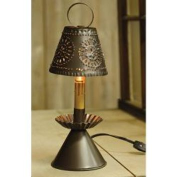 Electric Colonial Light Punched tin Light