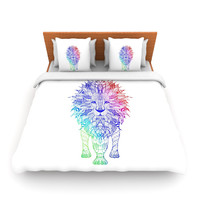 "Monika Strigel ""Rainbow Lion"" Lightweight Duvet Cover"