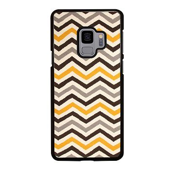 YELLOW BROWN CHEVRON PATTERN Samsung Galaxy S3 S4 S5 S6 S7 Edge S8 S9 Plus, Note 3 4 5 266
