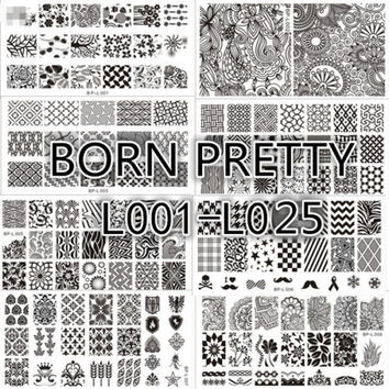 BORN PRETTY Nail Art Stamp Template Image Stamping Plate DIY Manicure BP-L 1-57